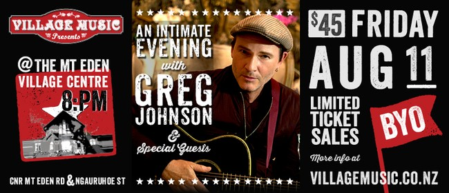An Intimate Evening with Greg Johnson & Special Guests