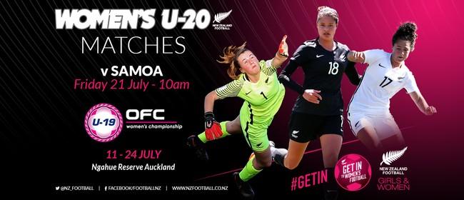 NZ Football Women's U-20 vs Samoa