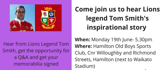 Meet & Greet With Tom Smith to Welcome the Lions to Hamilton