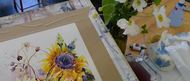 Contemporary Flowers In Watercolour