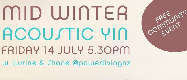 Acoustic Yin Yoga - Community Event & Live Music