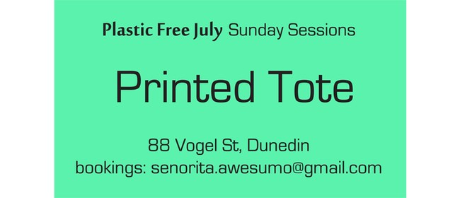 Printed Tote - Plastic Free July