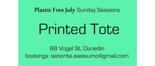 Printed Tote - Plastic Free July