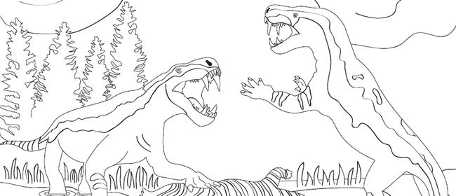 Permian Monster Colouring Competition