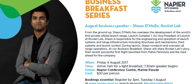 Business Breakfast Series - Shaun D'Mello