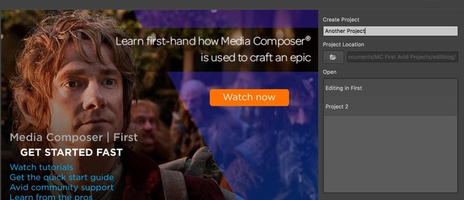 Avid Media Composer Introduction